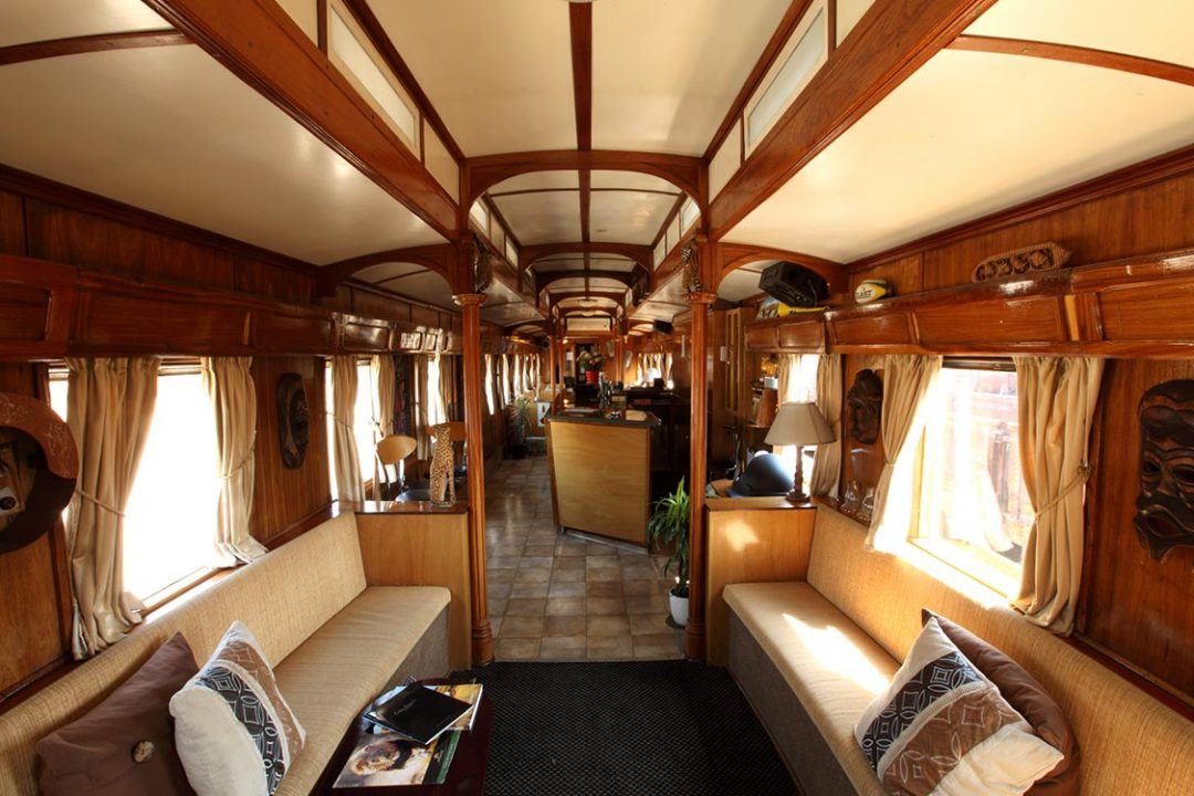 Wagon salon du Train Shongololo Express
